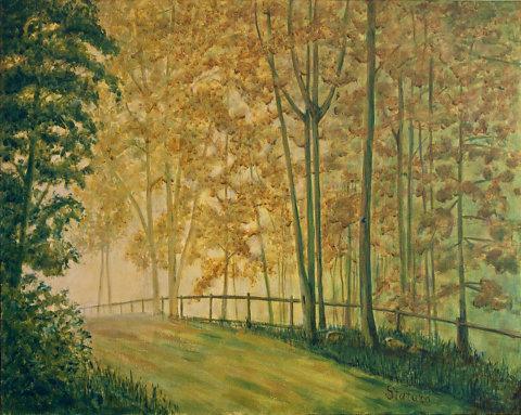 Paint Gravel Road Along Gravel Pond Road